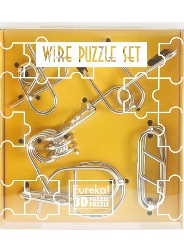 Educa Eureka Wire Puzzle Set-Yellow Renkli